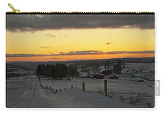 Snowy Pennsylvania Sunset Carry-all Pouch
