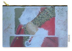 S'nta Claus Carry-all Pouch by Claudia Goodell