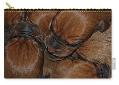 Carry-all Pouch featuring the photograph Snuggle by Mim White