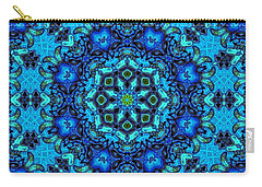 So Blue - 33 - Mandala Carry-all Pouch