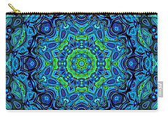 So Blue - 43 - Mandala Carry-all Pouch