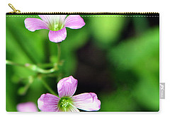 So Delicate In Purple. Texas Spring Perennial Carry-all Pouch
