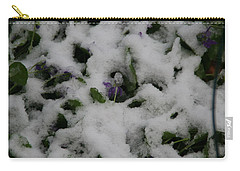 Carry-all Pouch featuring the photograph So Much For An Early Spring by David S Reynolds