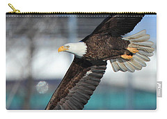 Carry-all Pouch featuring the photograph Soaring Eagle by Coby Cooper