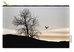 Carry-all Pouch featuring the photograph Soaring Eagle by Michael Chatt