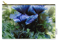 Carry-all Pouch featuring the photograph Social Feather Duster Cluster - A Social Gathering by Amy McDaniel