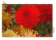 Carry-all Pouch featuring the photograph Sockeye And Upmost Dahlias by Jordan Blackstone