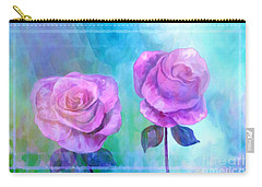 Soft And Beautiful Roses Carry-all Pouch