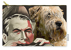 Soft-coated Wheaten Terrier  - Wheaten Terrier Art Canvas Print - Rear Window Movie Poster Carry-all Pouch