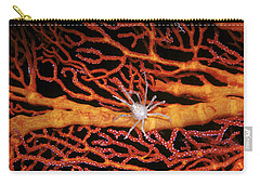 Soft Coral Crab On Red Gorgonian Carry-all Pouch