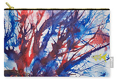 Soft Coral Splatter Carry-all Pouch by Patricia Beebe