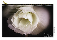 Soft Flower In Black And White Carry-all Pouch
