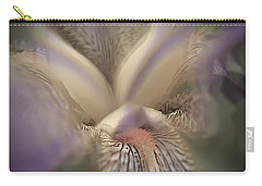 Soft Iris Flower Carry-all Pouch