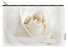 Soft Ivory Rose Flower Carry-all Pouch