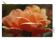 Carry-all Pouch featuring the photograph Soft Orange Flower by Matt Harang
