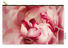 Soft Peony Carry-all Pouch by Ana V Ramirez