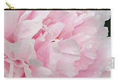 Carry-all Pouch featuring the digital art Soft Pink Peony by Jeannie Rhode