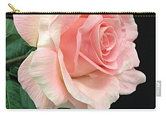 Carry-all Pouch featuring the photograph Soft Pink Rose 1 by Jeannie Rhode