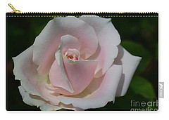 Carry-all Pouch featuring the photograph Soft Pink Rose by Jeannie Rhode