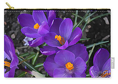Soft Purple Crocus Carry-all Pouch