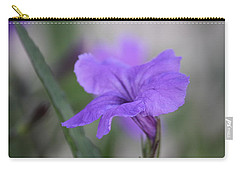 Carry-all Pouch featuring the photograph Soft Purple Floral by Penny Meyers