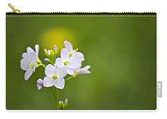 Soft White Cuckoo Flowers Carry-all Pouch by Christina Rollo