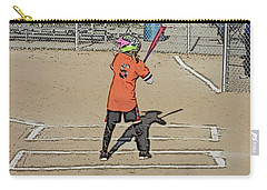 Carry-all Pouch featuring the photograph Softball Star by Michael Porchik