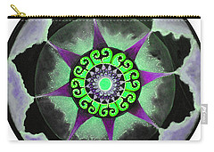 Carry-all Pouch featuring the painting Solar Soul Purple Sky by Patricia Arroyo