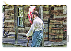 Carry-all Pouch featuring the photograph Soldier At Bedford Village Pa by Kathy Churchman