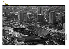Soldier Field Chicago Sports 05 Black And White Carry-all Pouch by Thomas Woolworth