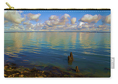 Carry-all Pouch featuring the digital art Solent by Ron Harpham