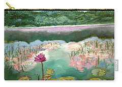 Solitary Bloom Carry-all Pouch by Belinda Low
