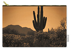 Solitary Saguaro Carry-all Pouch by Deb Halloran