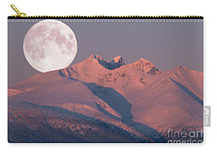 Solstice Sunrise Alpenglow Full Moon Setting Carry-all Pouch
