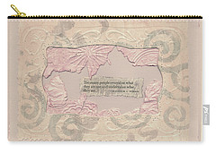 Carry-all Pouch featuring the mixed media Some People Overvalue ... Quote Art by Sandra Foster