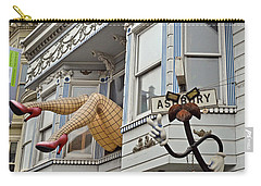 Carry-all Pouch featuring the photograph Something To Find Only The In The Haight Ashbury by Jim Fitzpatrick