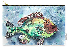 Something's Fishy Carry-all Pouch by Barbara Jewell