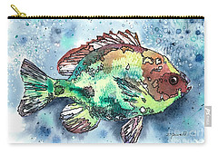 Something's Fishy Two Carry-all Pouch by Barbara Jewell