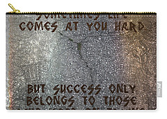 Sometimes Life Comes At You Hard Carry-all Pouch by Absinthe Art By Michelle LeAnn Scott
