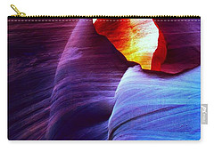 Carry-all Pouch featuring the photograph Somewhere In America Series - Blue In Antelope Canyon by Lilia D