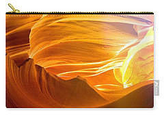 Carry-all Pouch featuring the photograph Somewhere In America Series - Gold Colors In Antelope Canyon by Lilia D