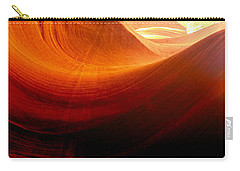 Carry-all Pouch featuring the photograph Somewhere In America Series - Red Waves In Antelope Canyon by Lilia D