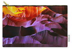 Carry-all Pouch featuring the photograph Somewhere In America Series - Transition Of The Colors In Antelope Canyon by Lilia D
