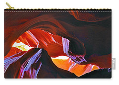 Carry-all Pouch featuring the photograph Somewhere In Waves In Antelope Canyon by Lilia D