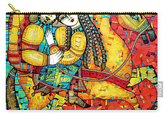 Sonata For Two And Unicorn Carry-all Pouch by Albena Vatcheva