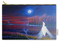 Carry-all Pouch featuring the painting Song Of The Silent Autumn Night by Kimberlee Baxter