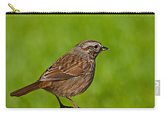 Song Sparrow On A Log Carry-all Pouch