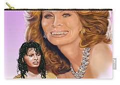 Carry-all Pouch featuring the digital art Sophia Loren by Thomas J Herring