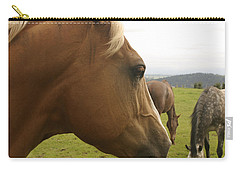 Carry-all Pouch featuring the photograph Sorrel Horse Profile by Belinda Greb