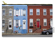 Carry-all Pouch featuring the photograph South Baltimore Row Homes by Brian Wallace